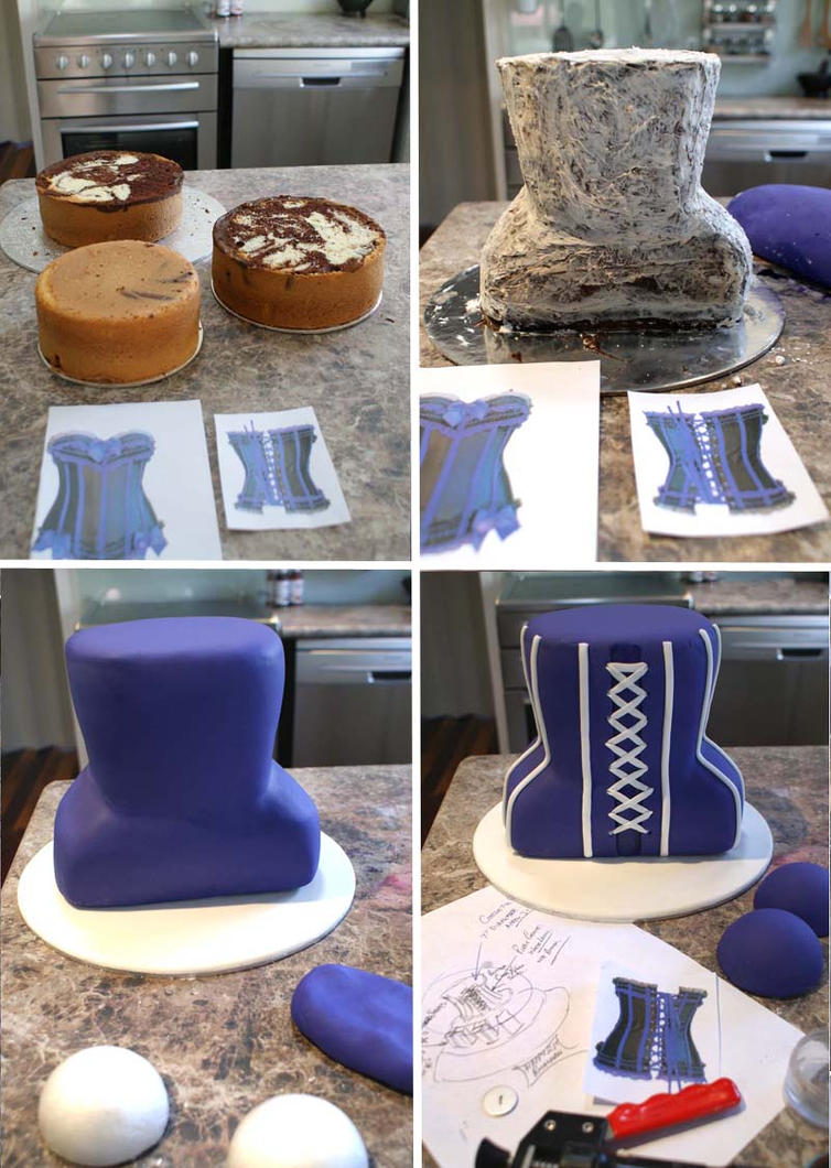 Step-by-step 3D Corset Cake by Verusca on DeviantArt