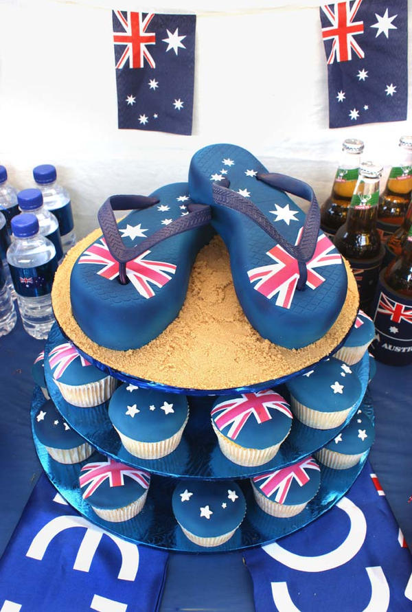 Australia day cake by verusca on deviantart for Australia day decoration