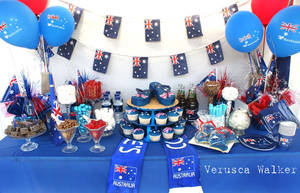 Australia Day Lolly Table