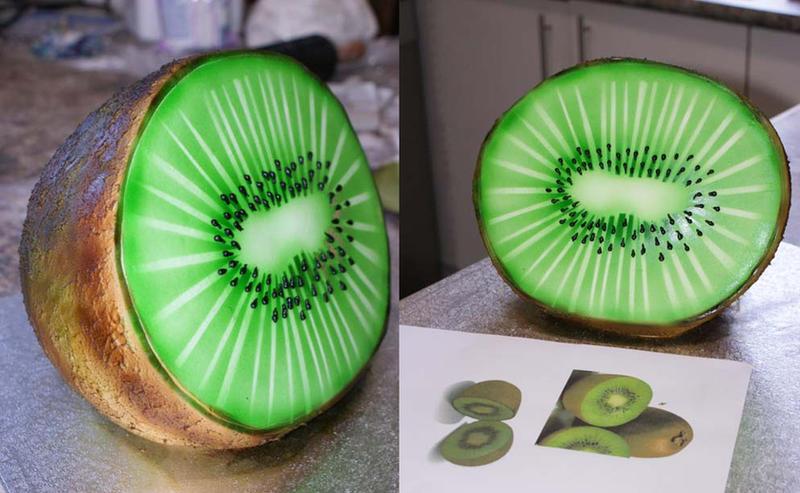 Kiwi 3D Cake by Verusca
