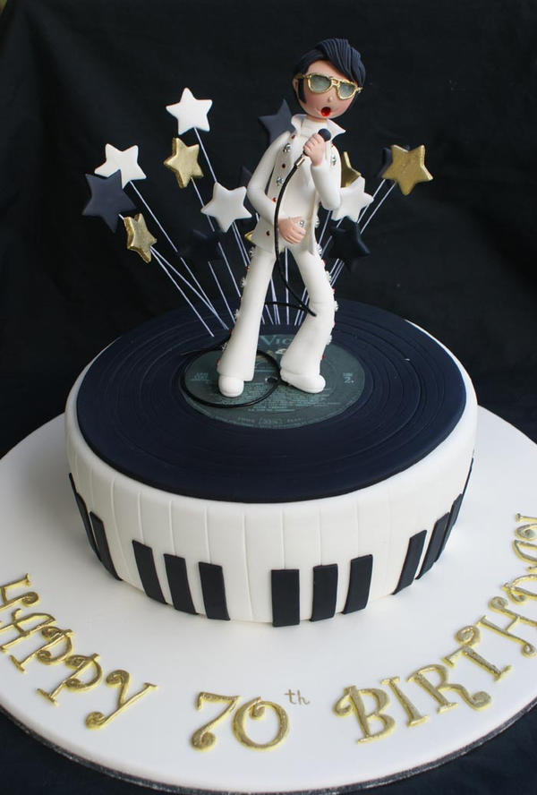 Elvis Cake On Pinterest Record Cake Rock N Roll And