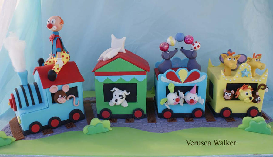 Train Cakes on Pinterest Circus Train, Toy Trains and Trains