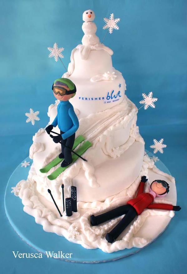 Snow Skiing Cake Cake Ideas And Designs