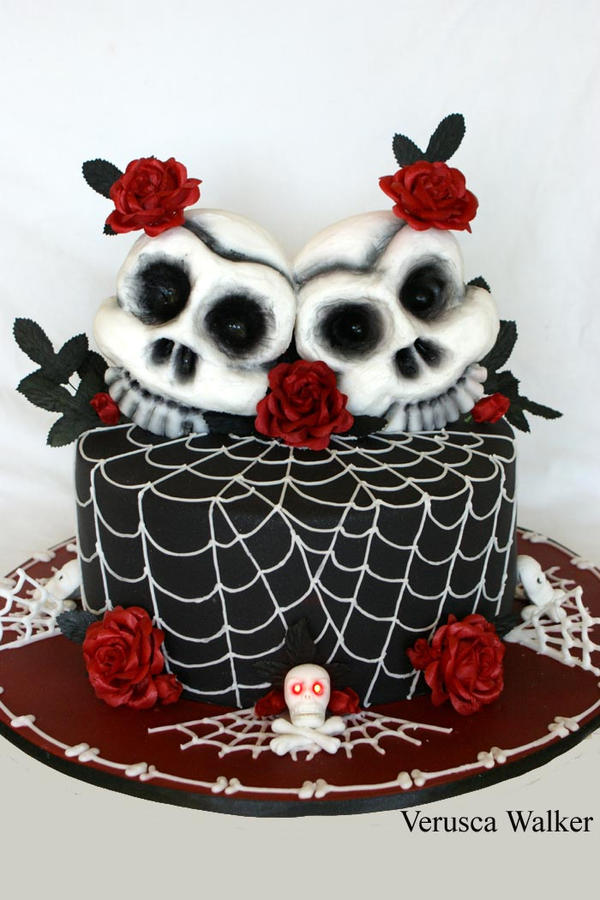 skull wedding cake by verusca on deviantart. Black Bedroom Furniture Sets. Home Design Ideas