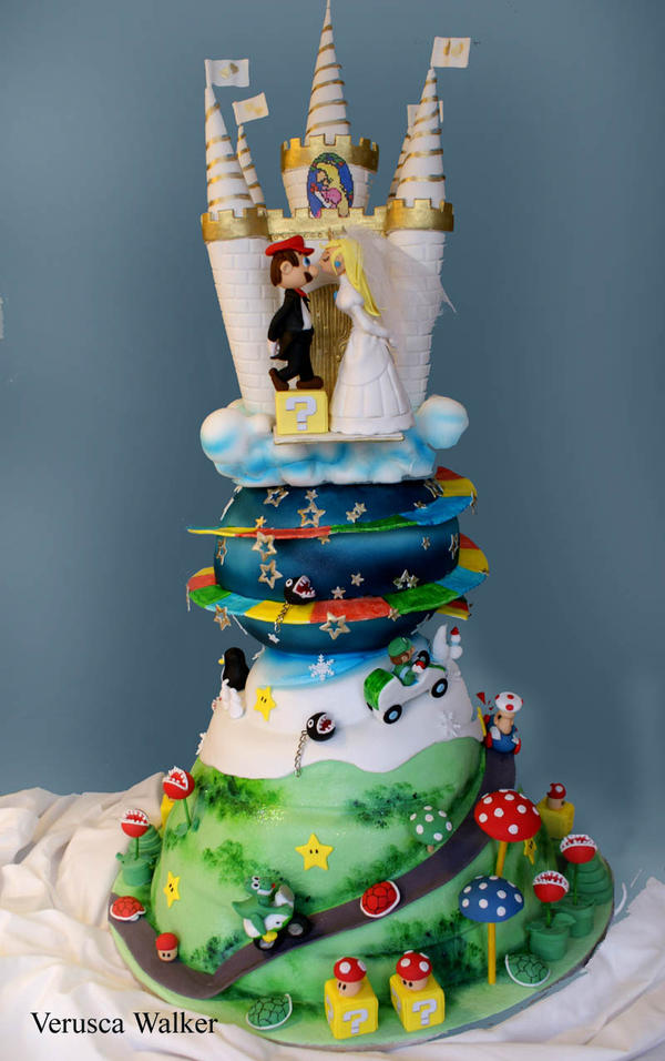 Super Mario Wedding Cake III By Verusca On DeviantArt - Cool Wedding Cakes