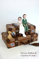Suitcases wedding cake by Verusca