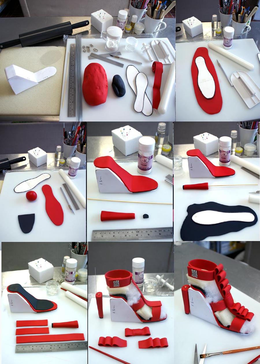 high heel gumpaste shoe step-by-step by Verusca on DeviantArt