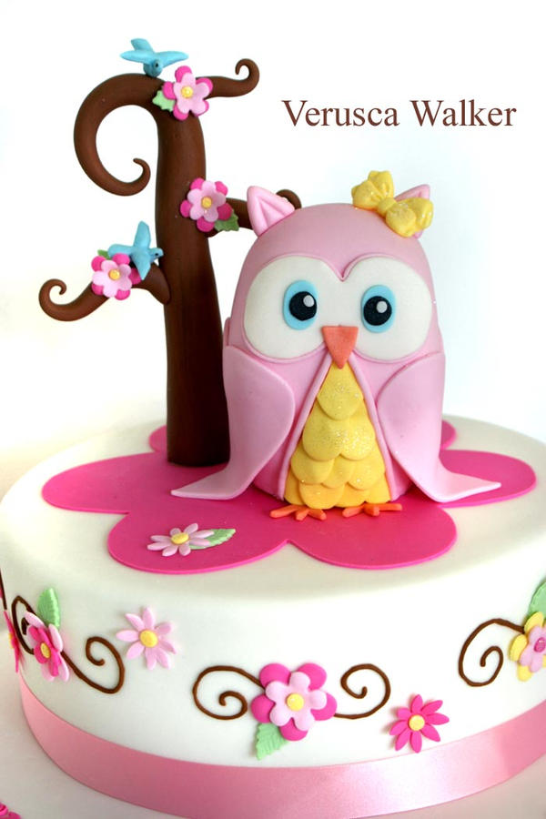 Owl Cake by Verusca