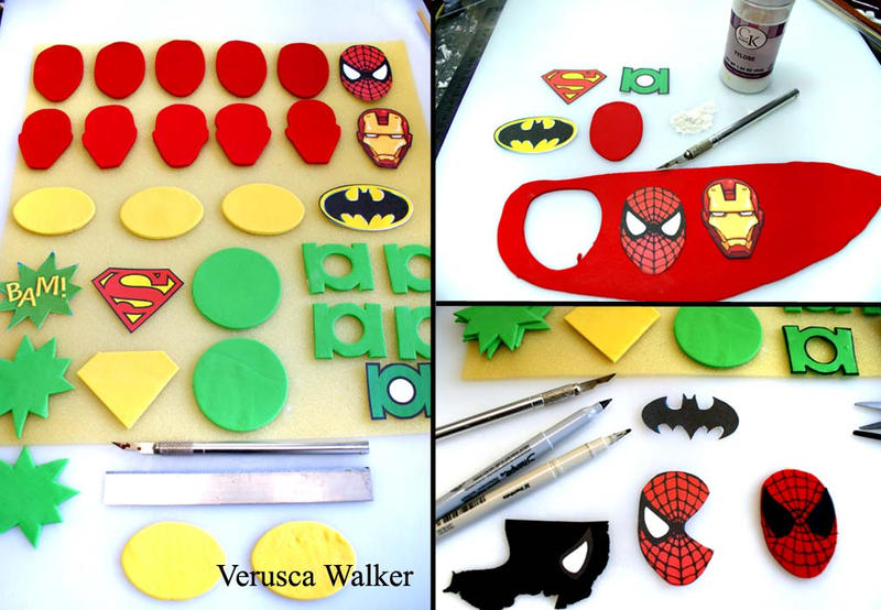 Superhero Cupcake Step-by-step by Verusca