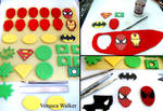 Superhero Cupcake Step-by-step
