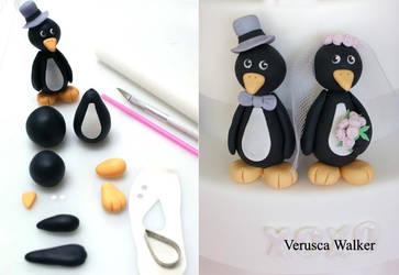 Penguin Figurine by Verusca