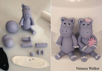 hippopotamus figurine by Verusca