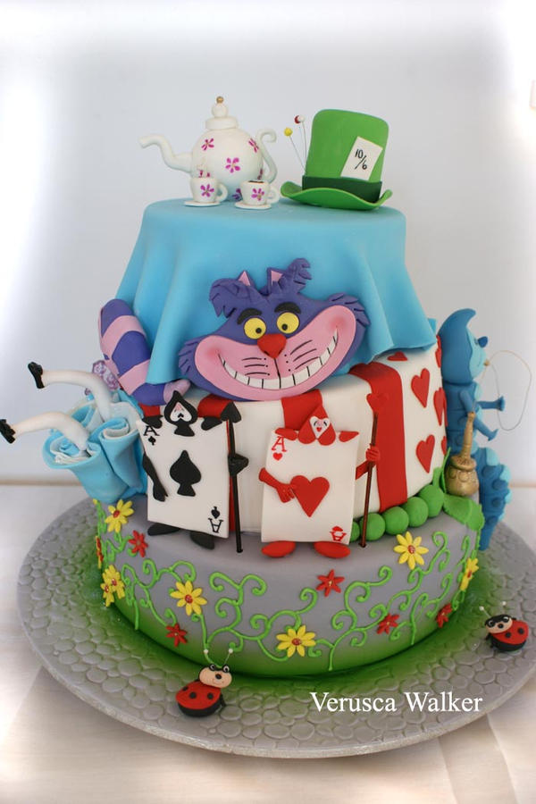 Alice in Wonderland Cake by Verusca on DeviantArt
