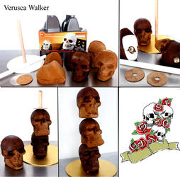 Step-by-step Skull Cake by Verusca