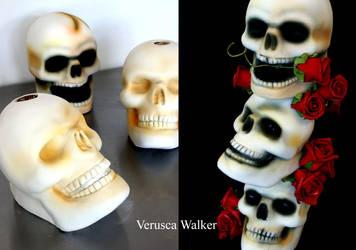 Airbrush Skull Cake by Verusca