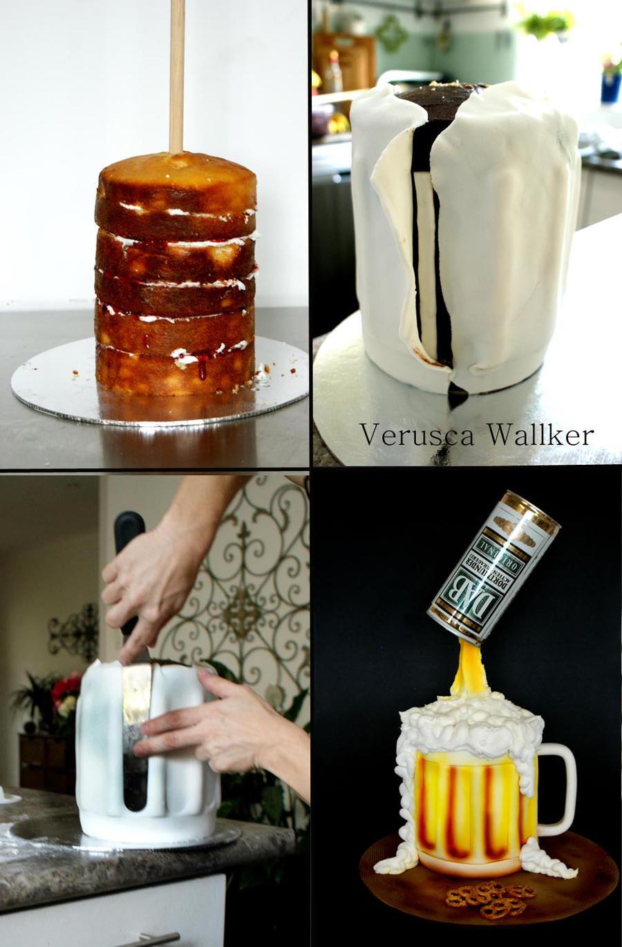 Beer Jar Cake by Verusca
