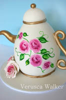 Hand Painted 3D Teapot by Verusca