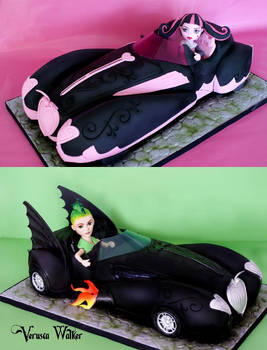 Monster High 3D Car Cake
