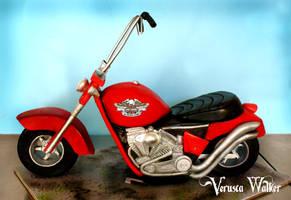 3D Motorbike Cake by Verusca