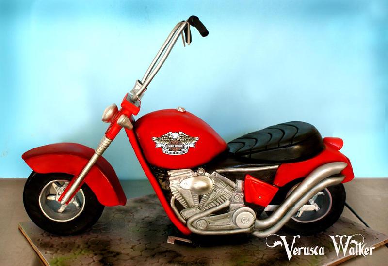 3D Motorbike Cake by Verusca on DeviantArt