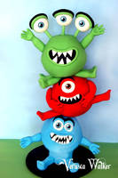 3D Little monsters by Verusca
