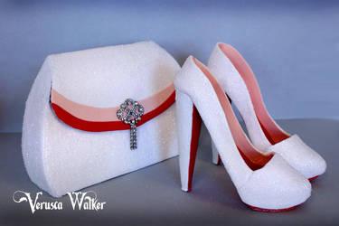 Glitter shoe and Bag