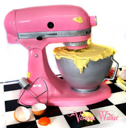 3D Kitchen Mixer Cake