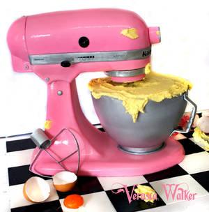 3D Kitchen Mixer Cake