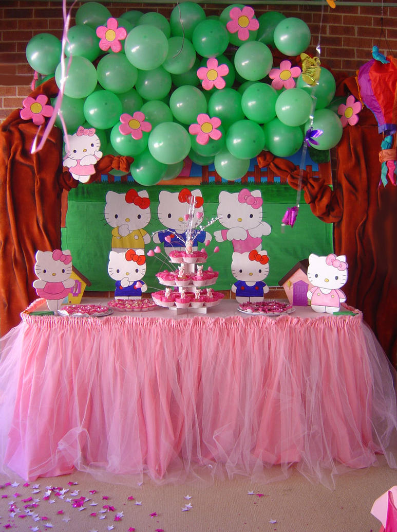 & Hello Kitty Party Decoration by Verusca on DeviantArt