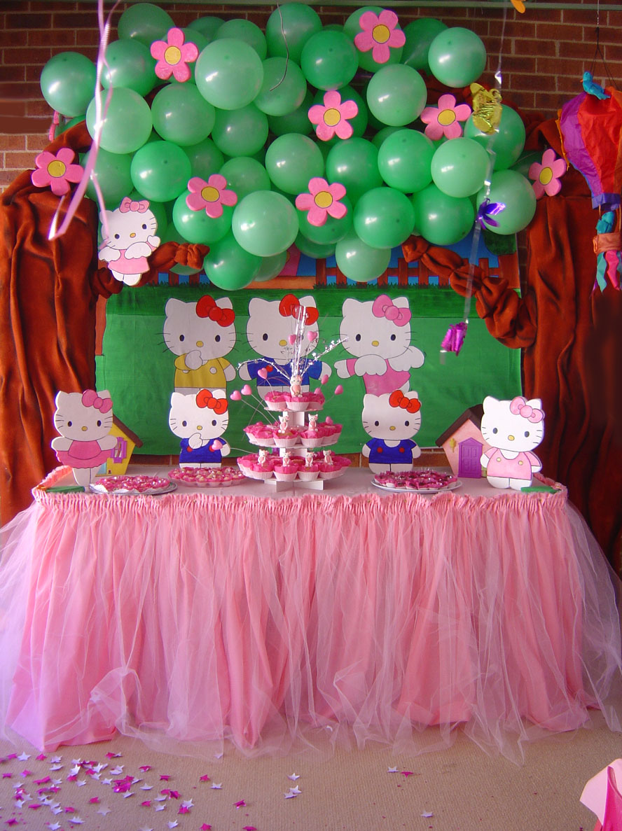 Cake Decorating For Party : Hello Kitty Party Decoration by Verusca on DeviantArt