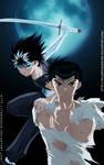 Yusuke and hiei by llSwaggerll