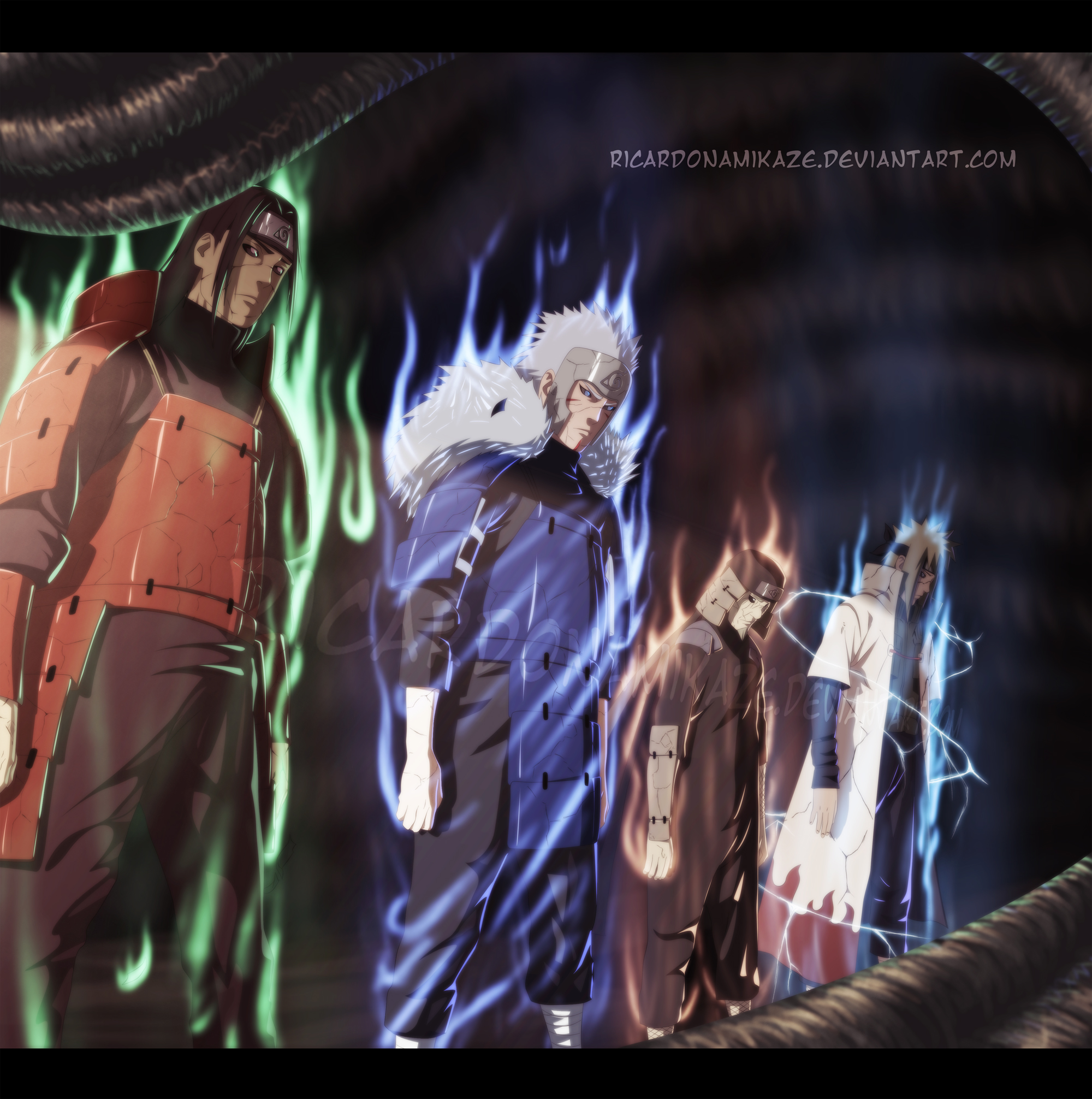 The Previous Hokages. by RicardoNamikaze