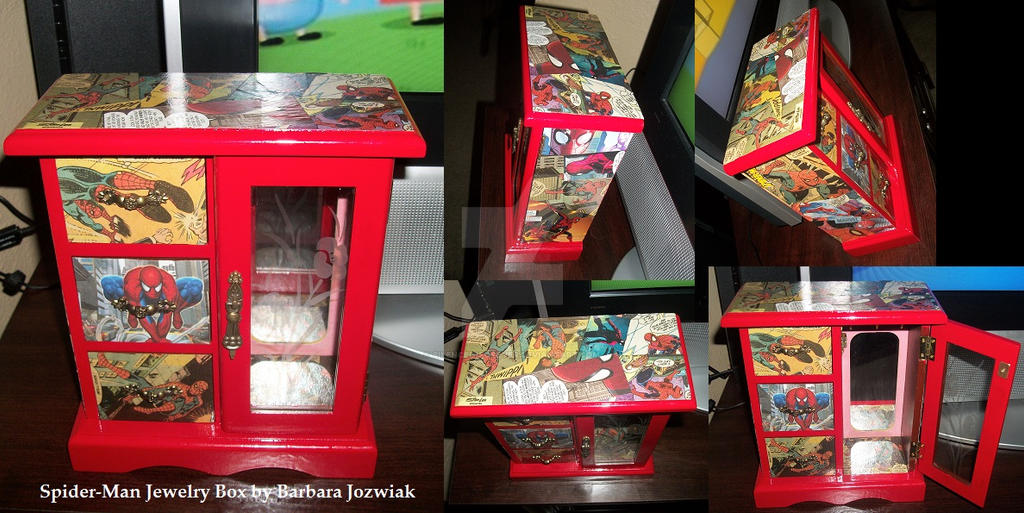 spider man jewelry box by silenced1forever on deviantart