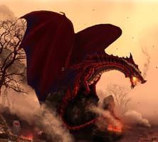 The Dragon of Cymru by Netarliargus