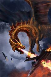 Aerial Duel by Netarliargus