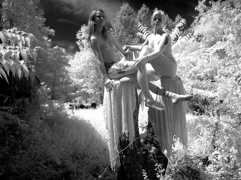 Jill and Angel in Infrared by grandart