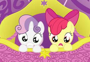 Applebloom and Sweetie Belle by BlackGryph0n