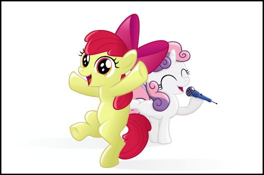 Apple Bloom and Sweetie Belle
