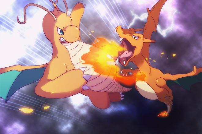 Dragonite VS Charizard by oguno on DeviantArt