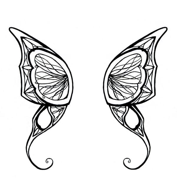 Simple Butterfly Wing Designs Butterfly wings tattoo by