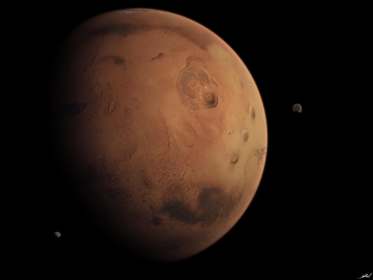 mars moons diameter - HD1280×960