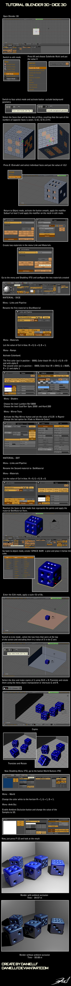 Blender 2.49 - Dice 3D by daniellf