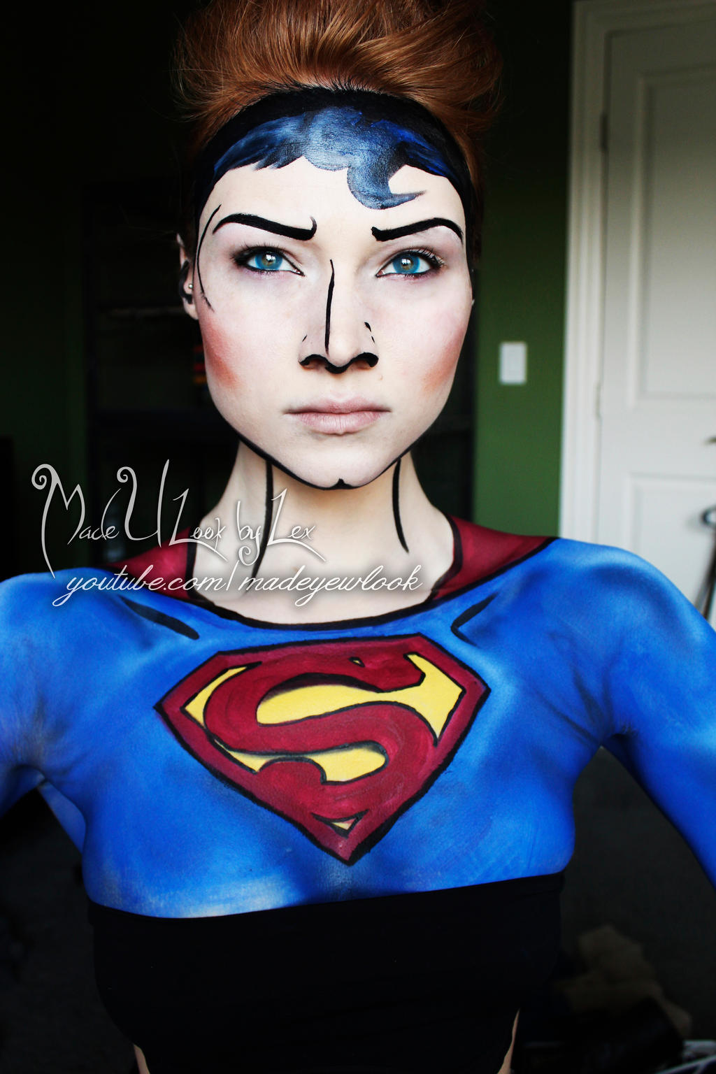 Face Painting Superman