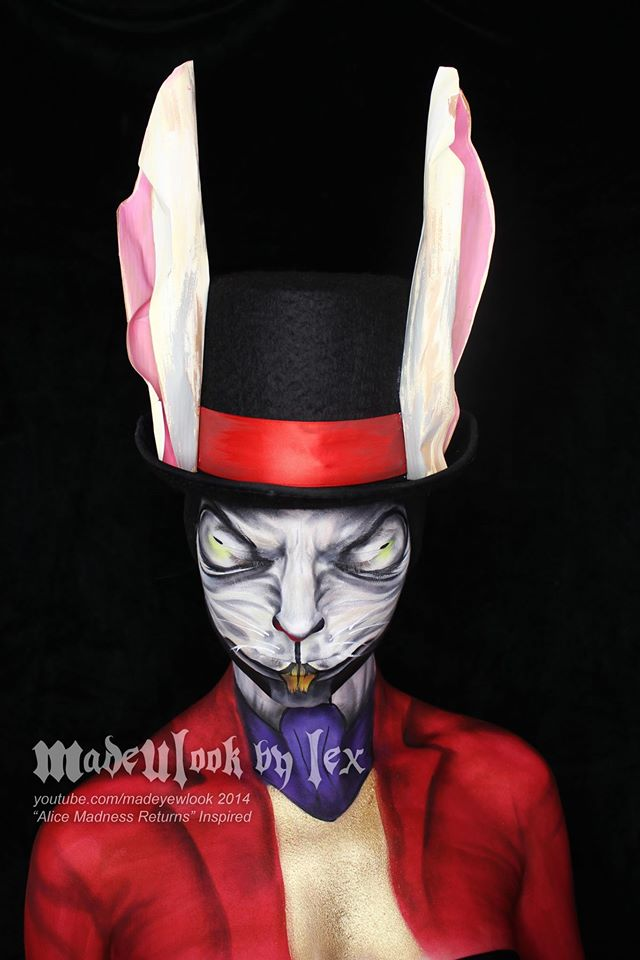 White Rabbit - Alice Madness Returns Body Paint by MadeULookbylex