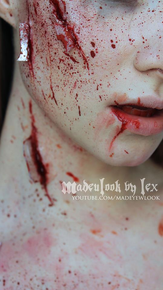 Basic Halloween Broken Glass Effects by MadeULookbylex