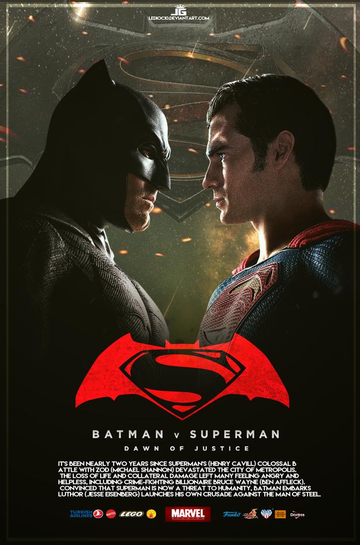Batman vs Superman Poster - 2016 Film by ledioc10 on ...