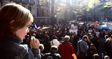 In Occupy Amsterdam...