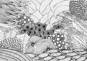 Zentangle Under the Sea by vlacruz