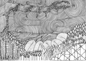 Zentangle By the river by vlacruz