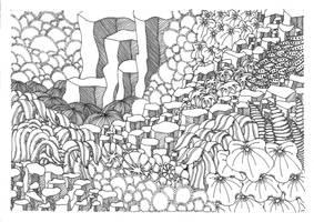 Zentangle In the mountains by vlacruz